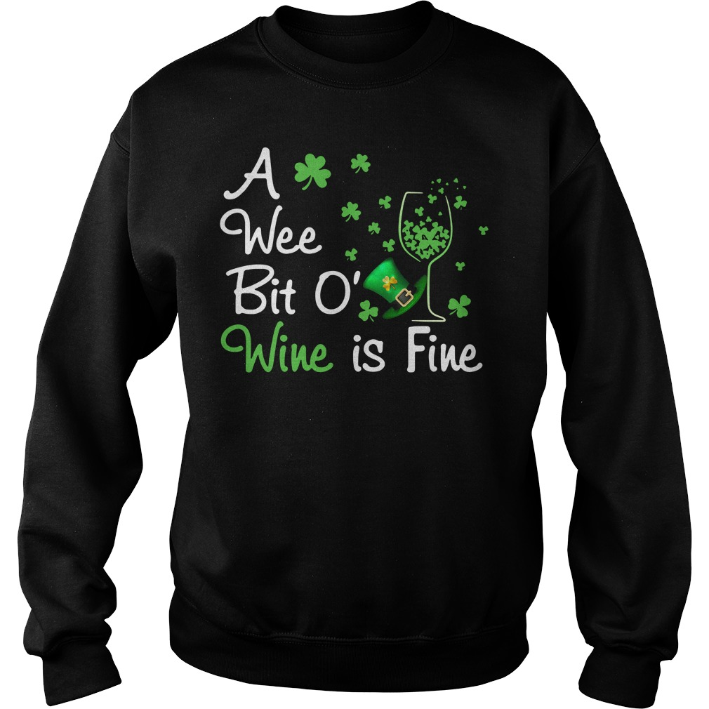 Irish wine a wee bit O Wine is Fine Sweater