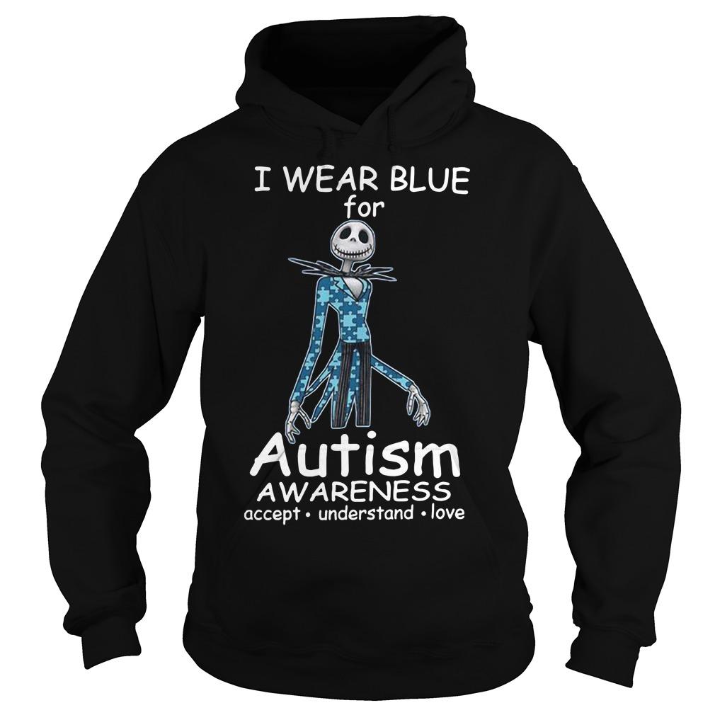 Jack skellington I wear blue for autism awareness Hoodie