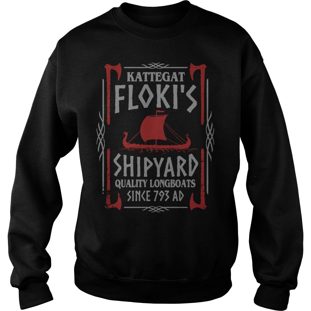 Kattegat floki's shipyard quality longboats since 793 ad Sweater