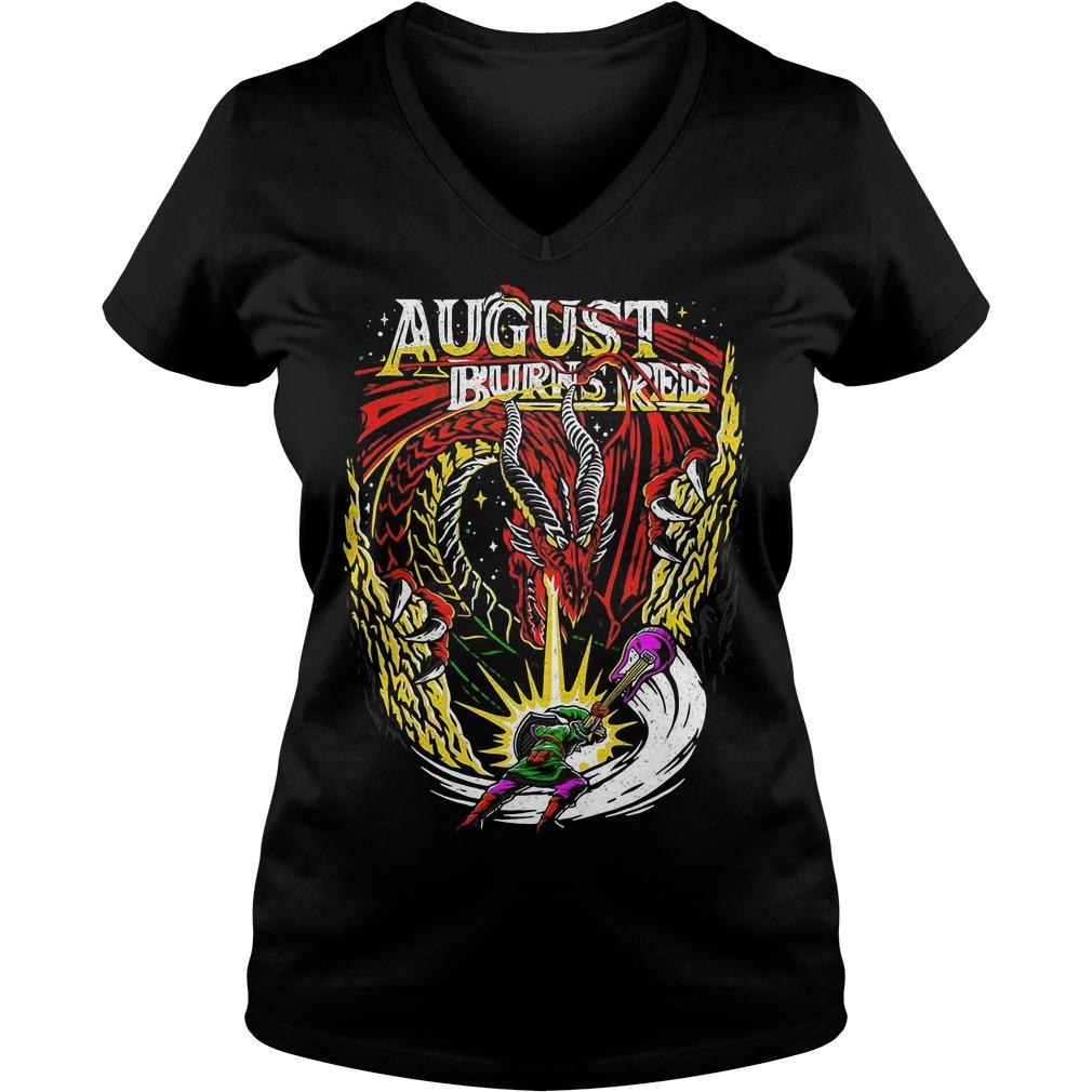 The Legend of Zelda August burns red V-neck T-shirt