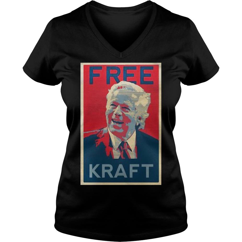 Official Free Mr. Kraft V-neck T-shirt
