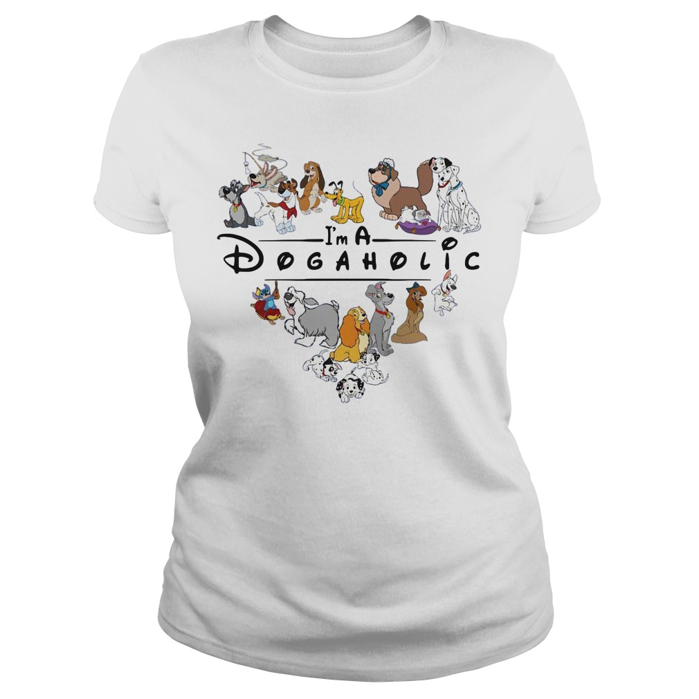 Official I'm A Dogaholic Ladies tee