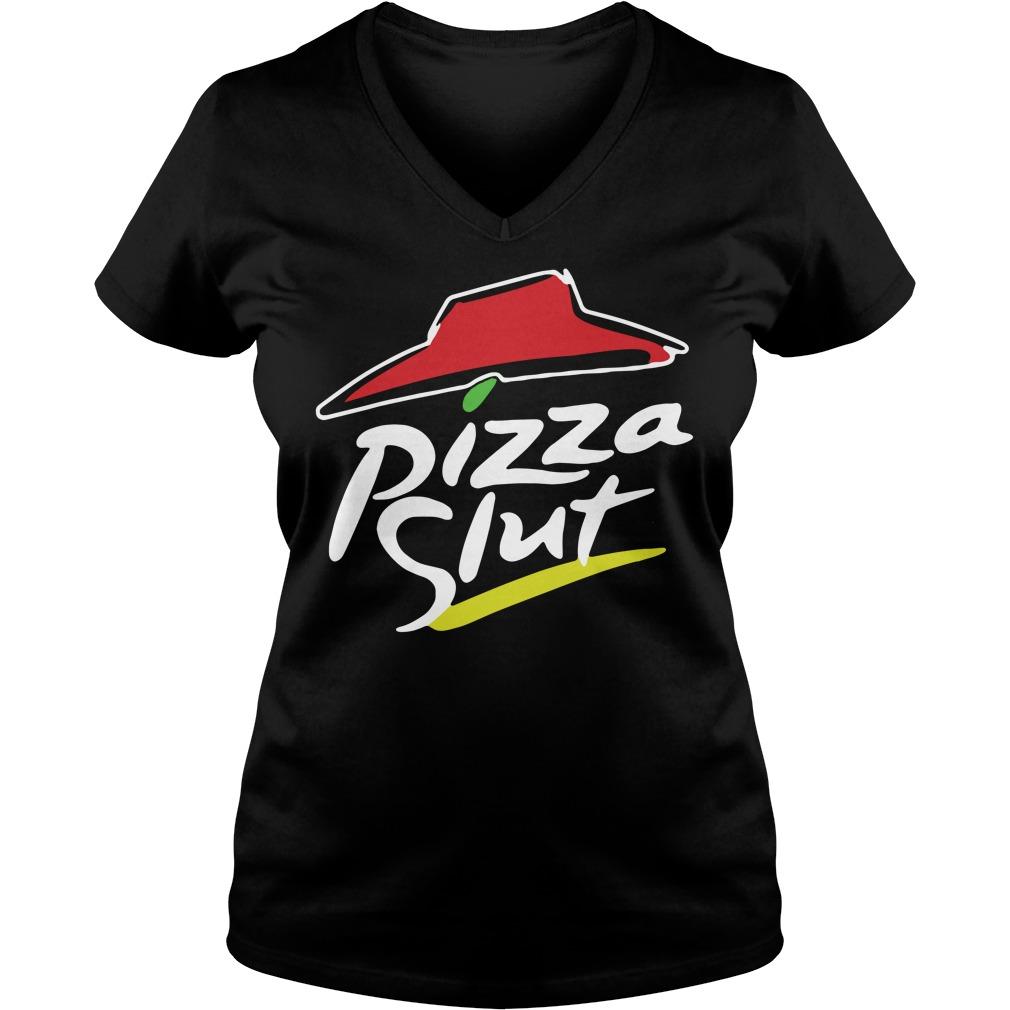Official TeeIsland Pizza Slut V-neck T-shirt
