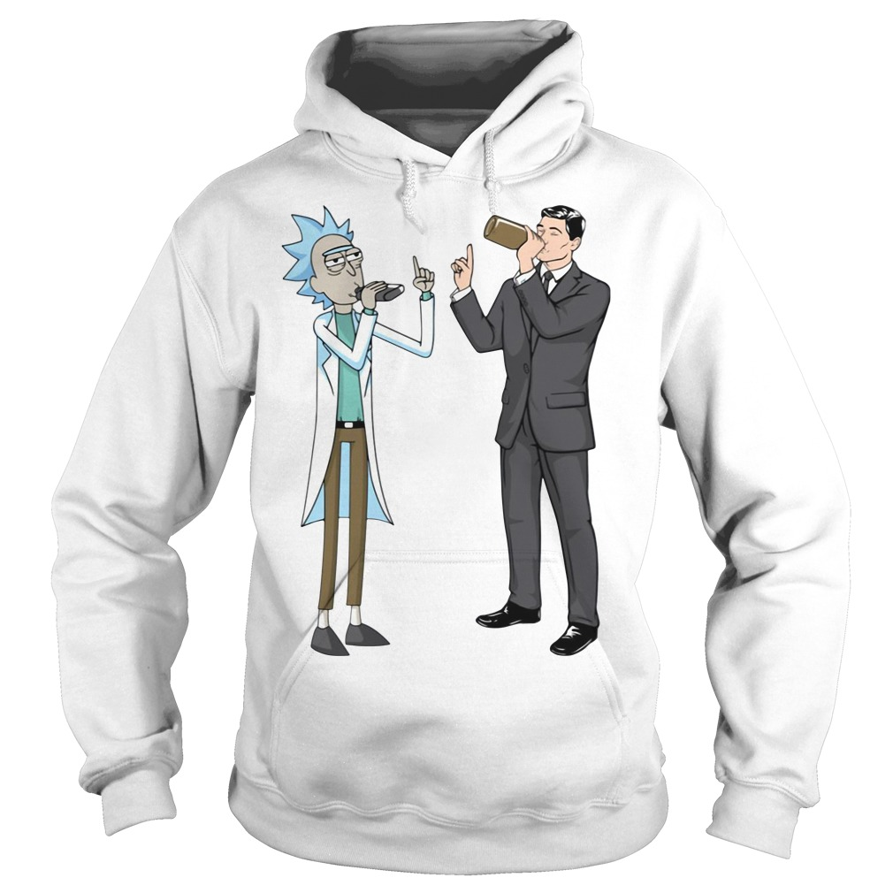 Rick and Sterling Archer drink wine Hoodie