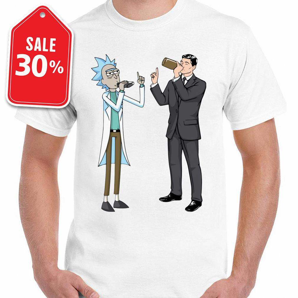Rick and Sterling Archer drink wine shirt