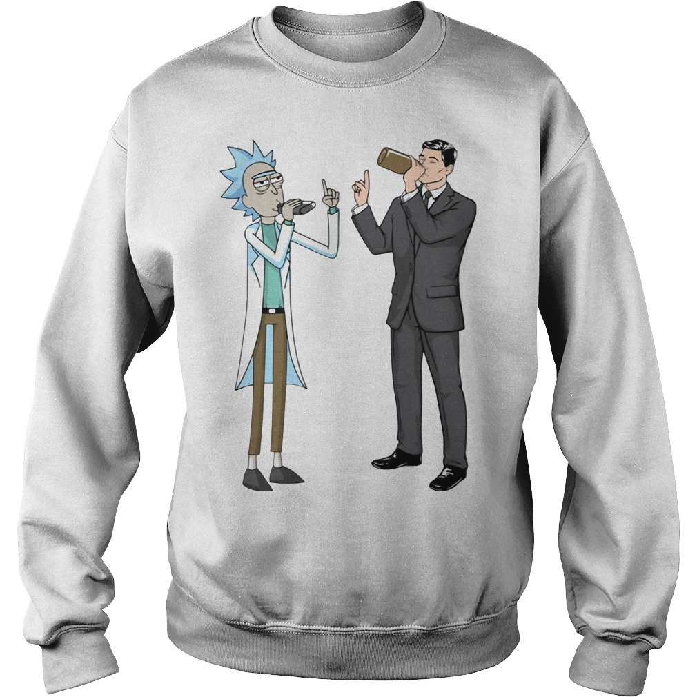Rick and Sterling Archer drink wine Sweater
