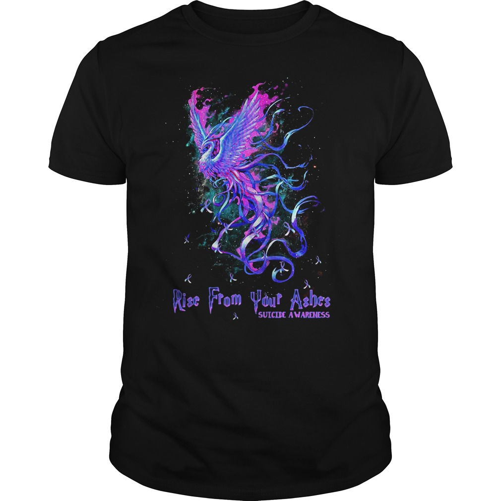 Rise from your ashes suicide awareness Guys shirt