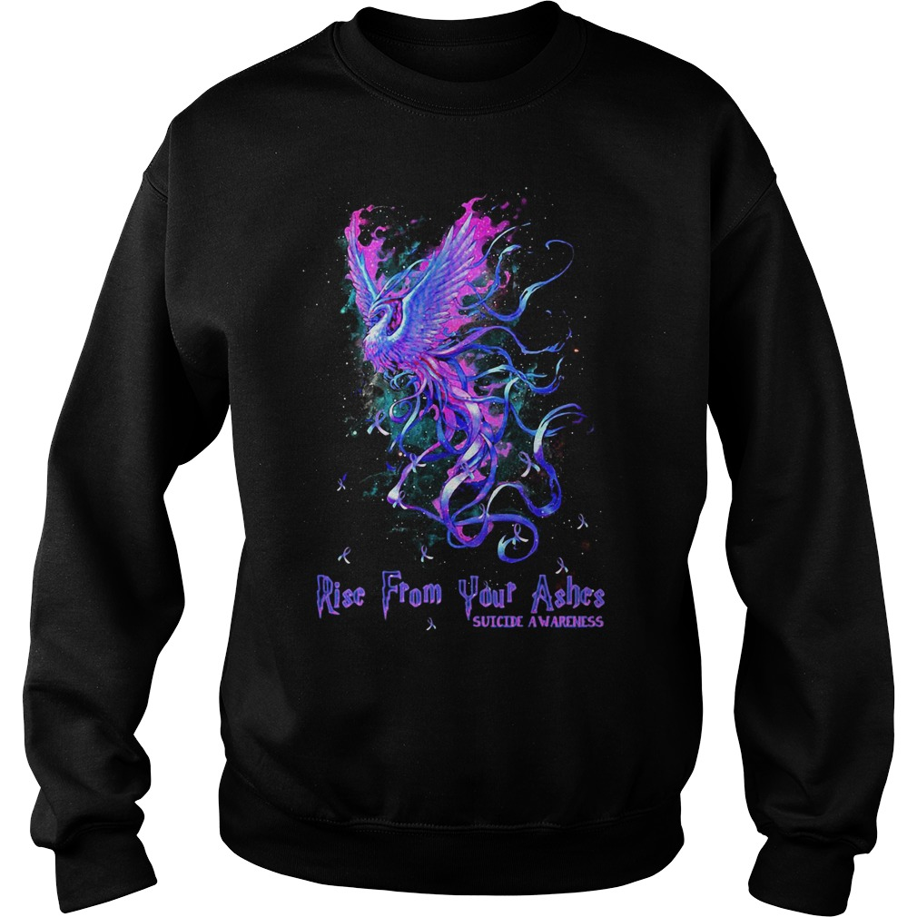 Rise from your ashes suicide awareness Hoodie