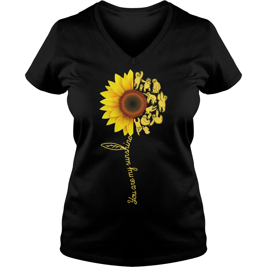 Sloth you are my sunshine V-neck T-shirt