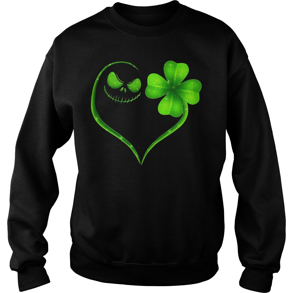 St Patrick's day Jack Skellington and Shamrock love Sweater