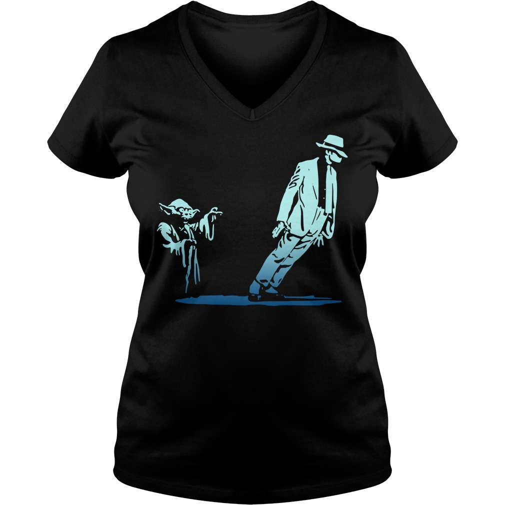 Star Wars Yoda and Michael Jackson V-neck T-shirt