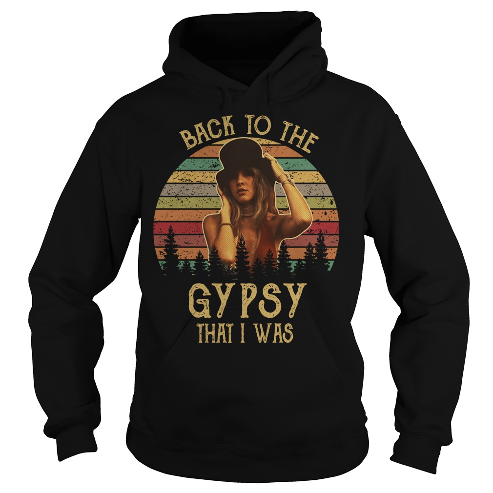Stevie Nicks Back to the gypsy that I was vintage Hoodie
