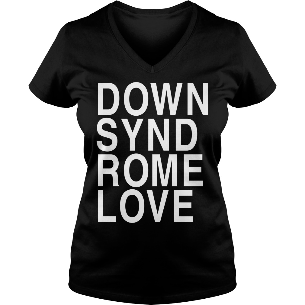 Down syndrome love definition meaning shirt V-neck T-shirt