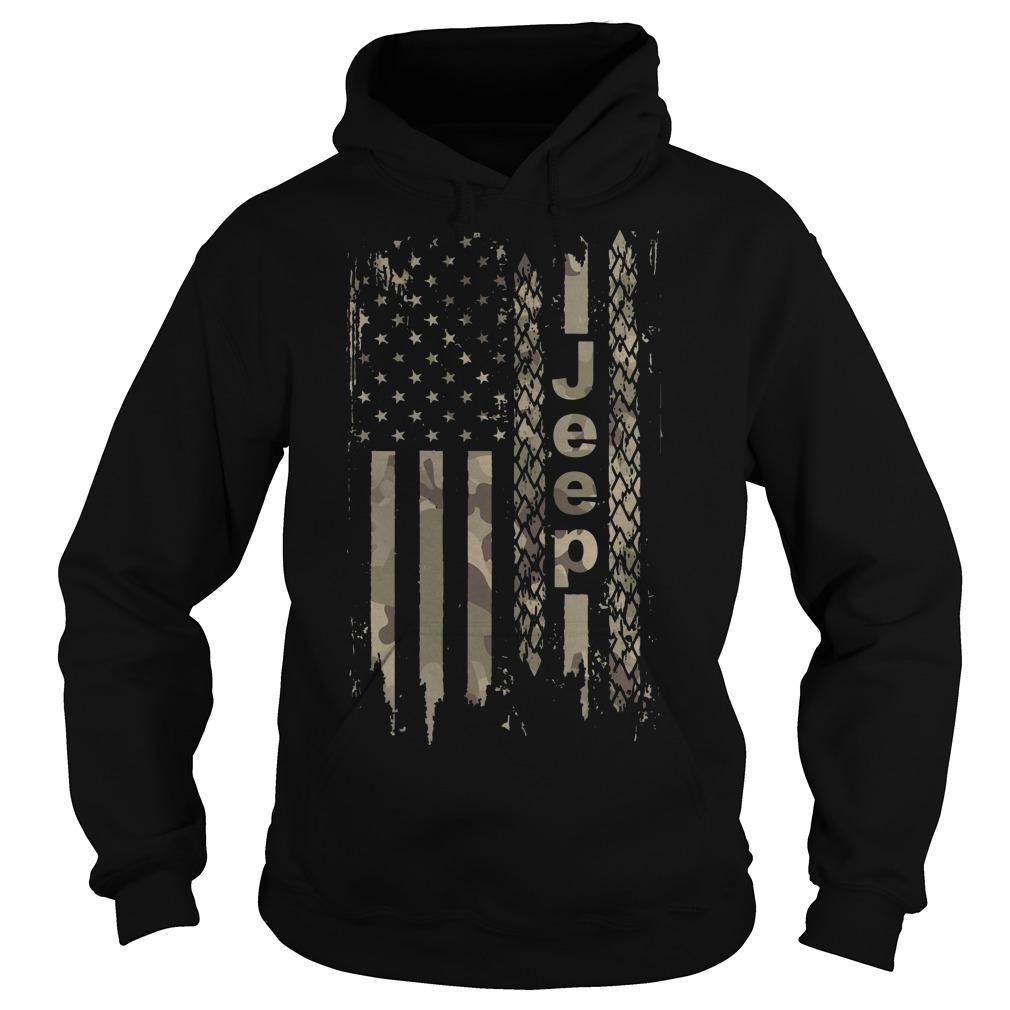 American flag camo jeep Hoodie