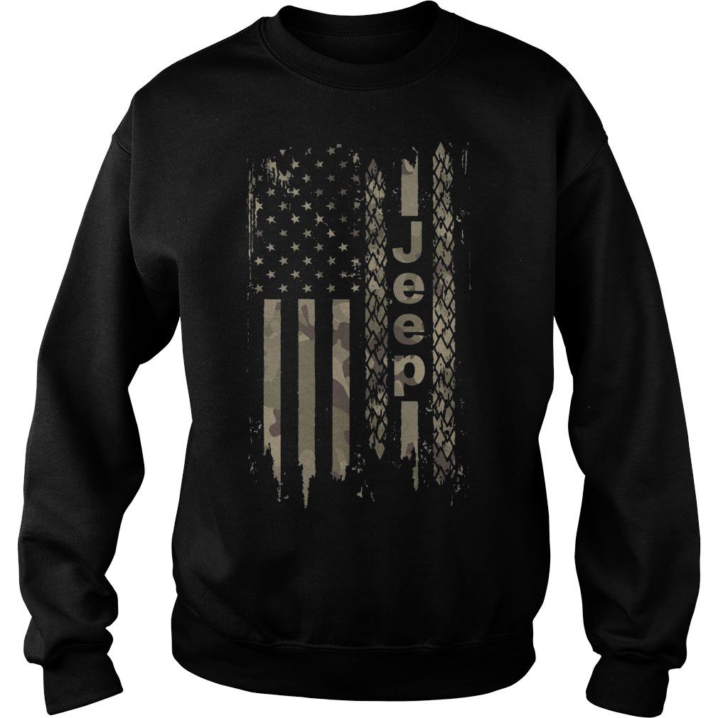 American flag camo jeep Sweater