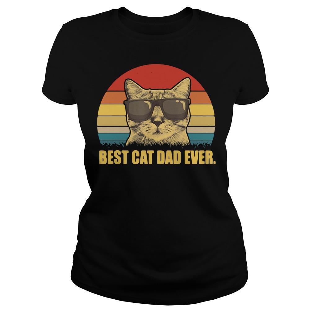 Best cat dad ever Vintage Ladies tee