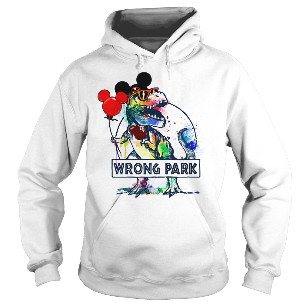 Dinosaur T-rex and Mickey mouse wrong park Hoodie