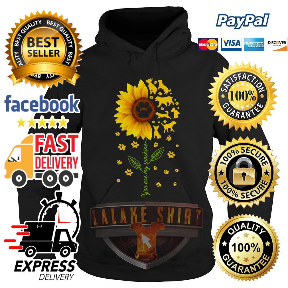 Dogs sunflower you are my sunshine Hoodie