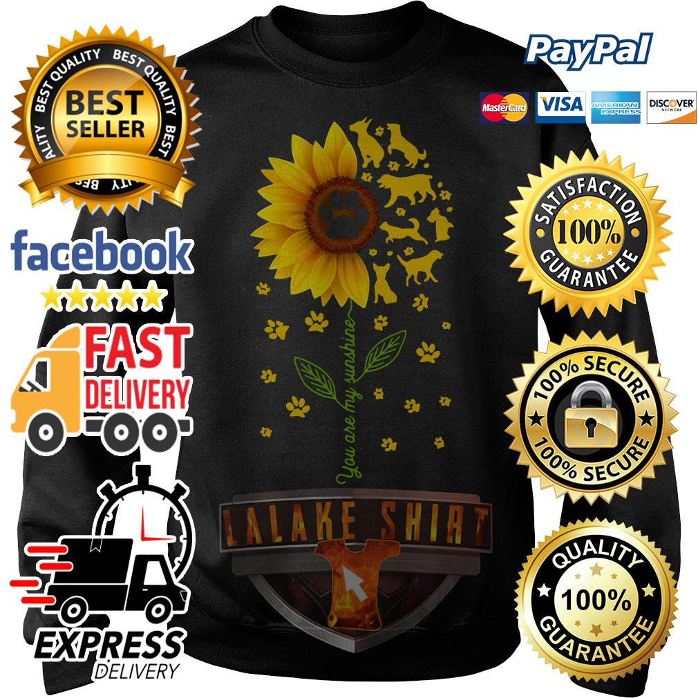 Dogs sunflower you are my sunshine Sweater