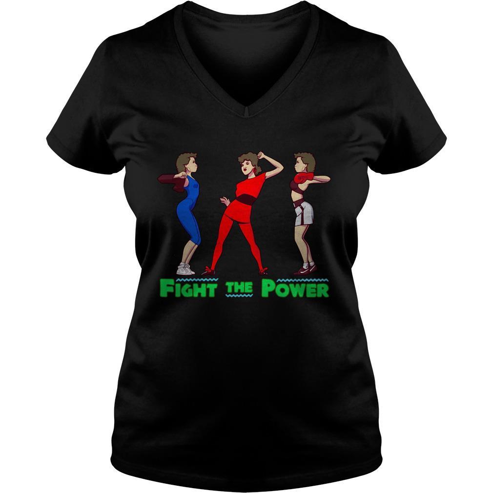 Fight the power V-neck t-shirt
