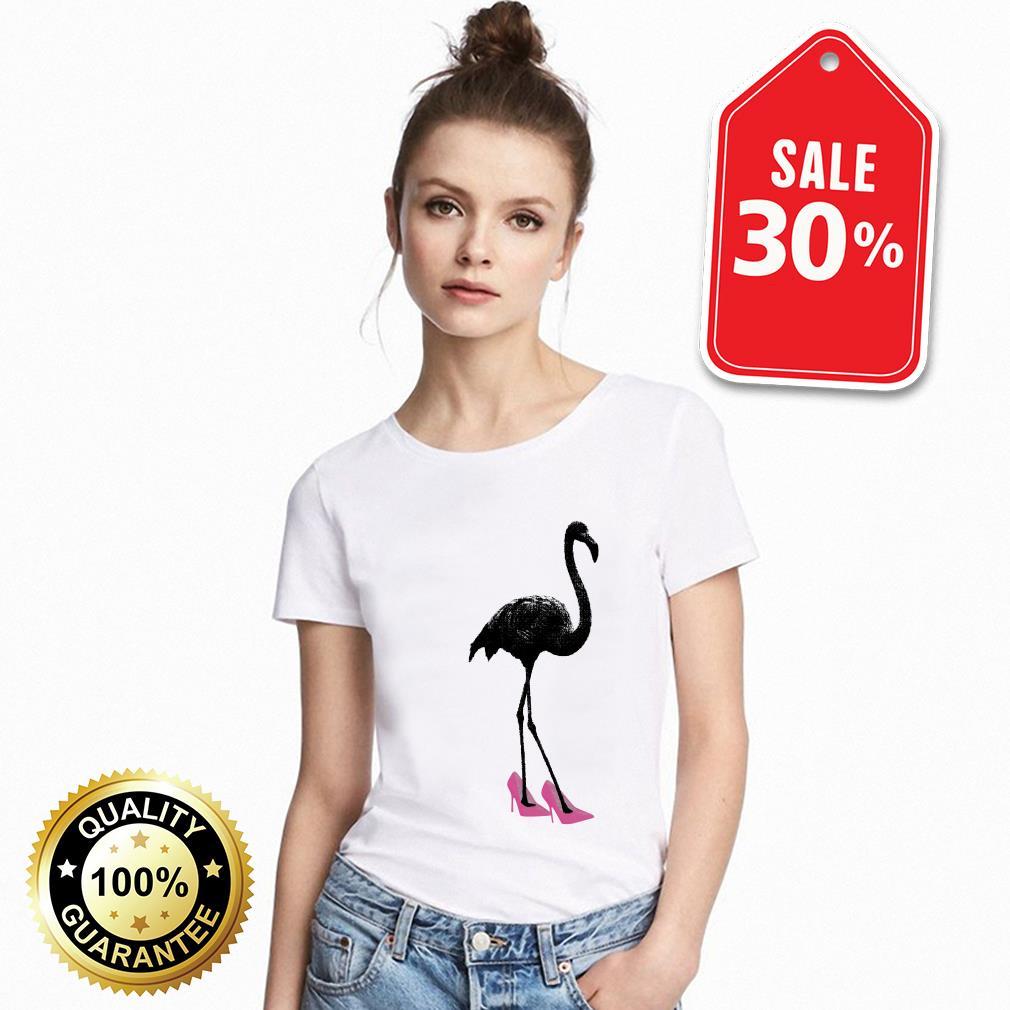 Flamingo shoe pink shirt