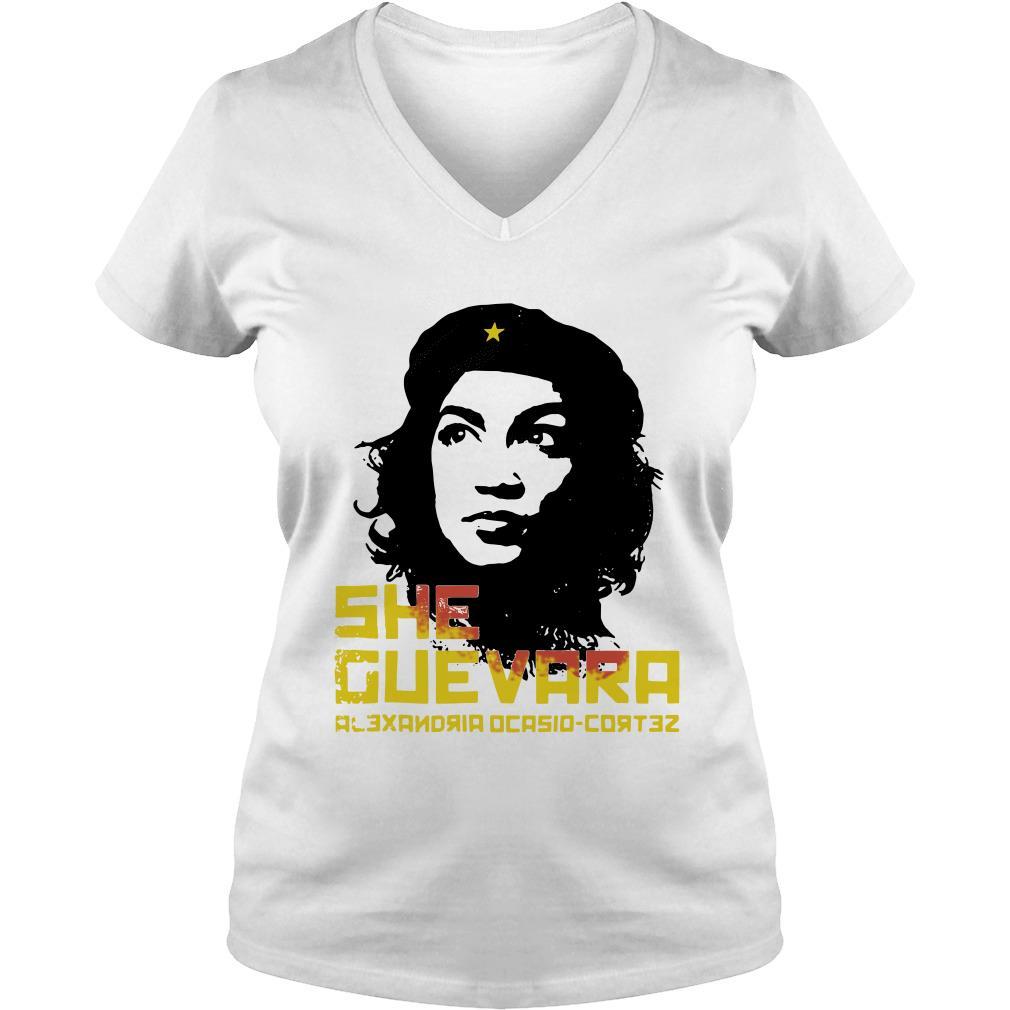 She Guevara Alexandria Ocasio-Cortez V-neck t-shirt