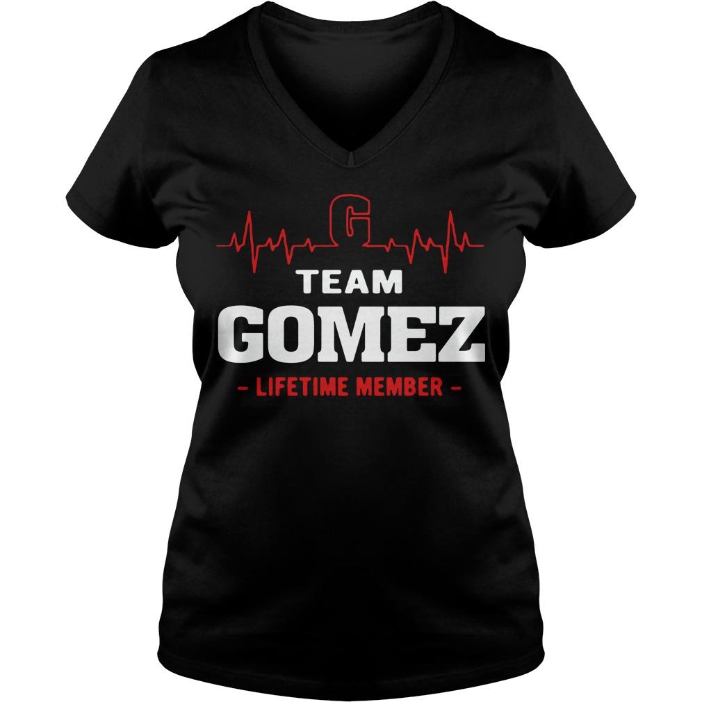 Heartbeat team Gomez lifetime member V-neck t-shirt