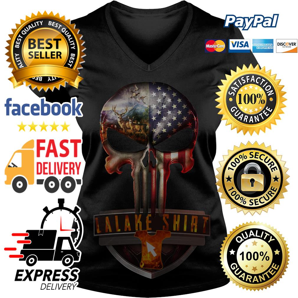 Hunter And America Punisher V-neck t-shirt