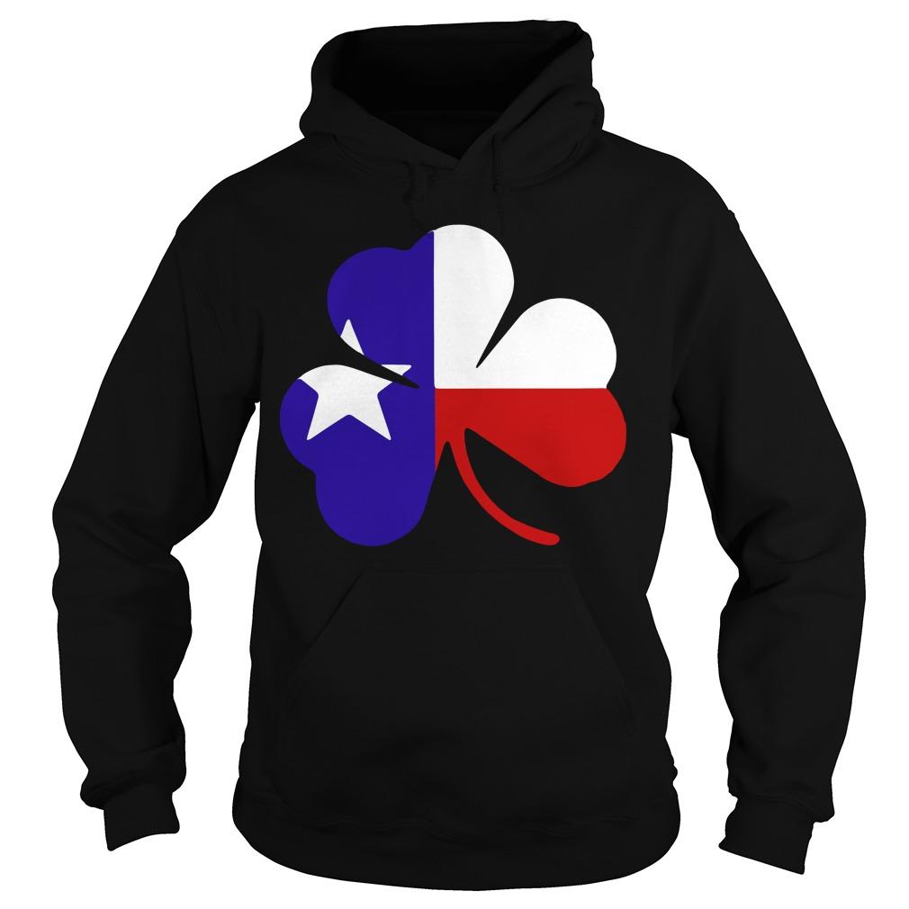 Irish Texas Flag Shamrock St Patricks Hoodie