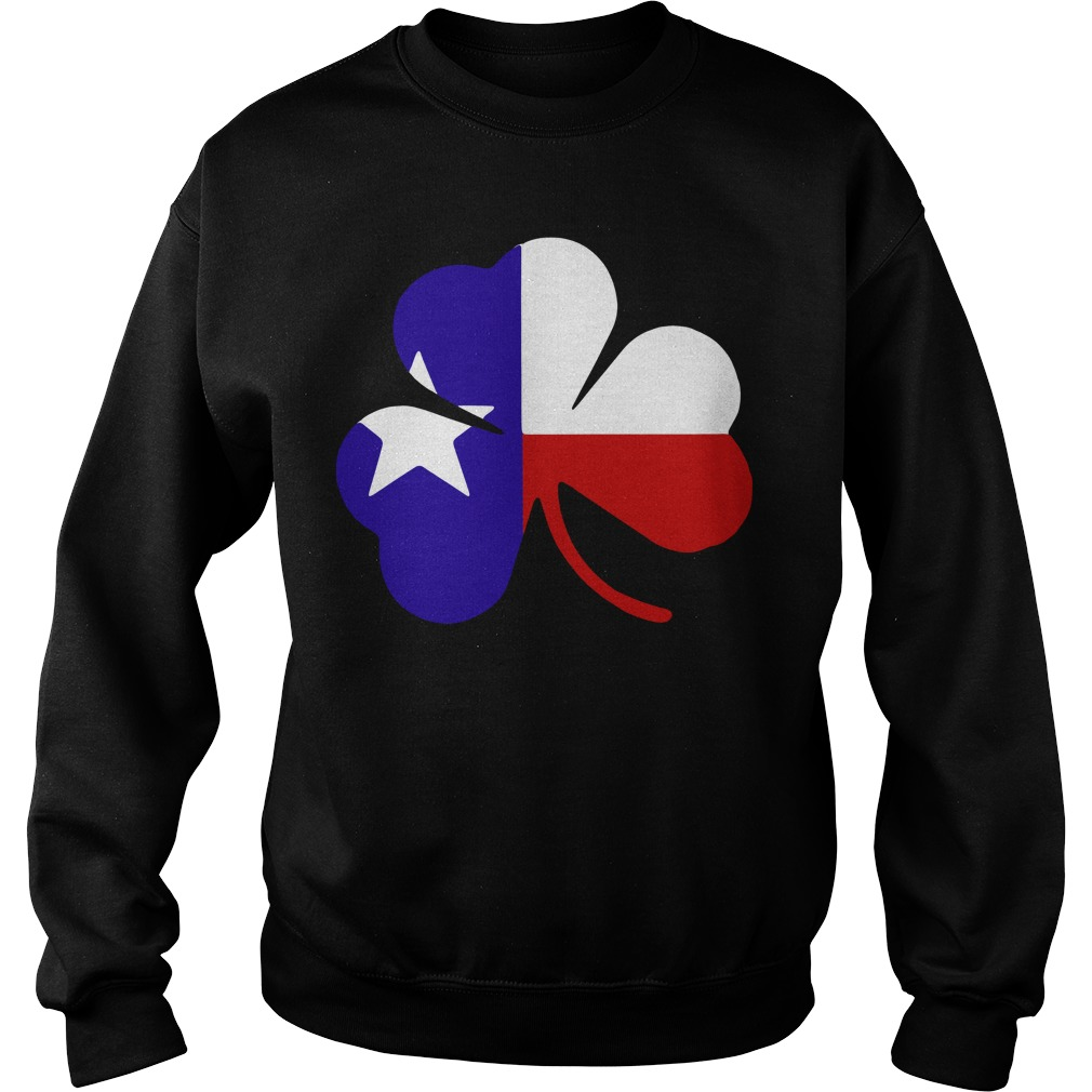 Irish Texas Flag Shamrock St Patricks Sweater