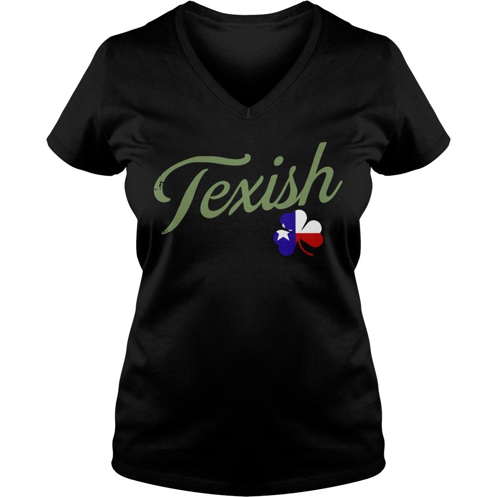 Irish Texish Shamrock St Patricks V-neck t-shirt