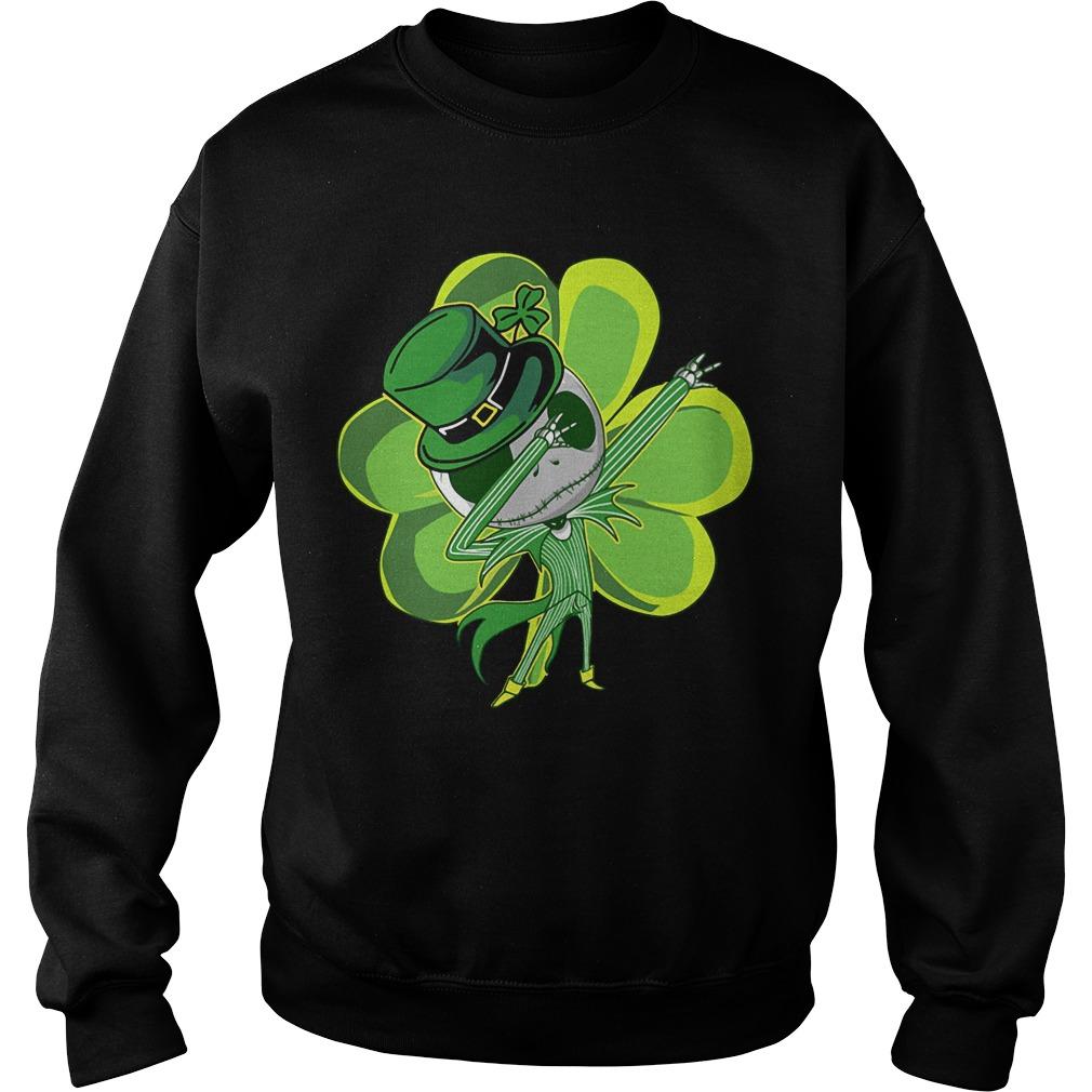Jack skellington dabbing Shamrock Irish ST. Patrick day Sweater