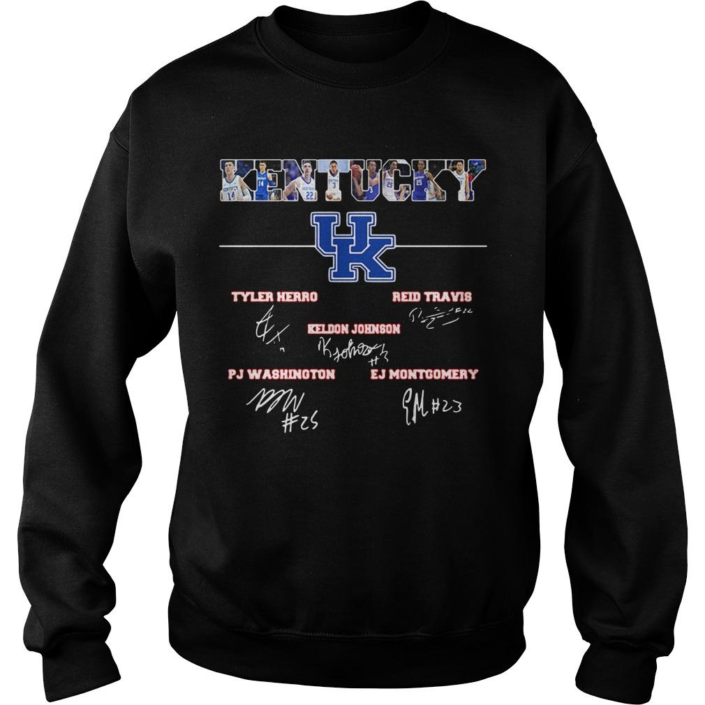 Kentucky Tyler Herro Reid Travis Keldon Johnson PJ washington Sweater