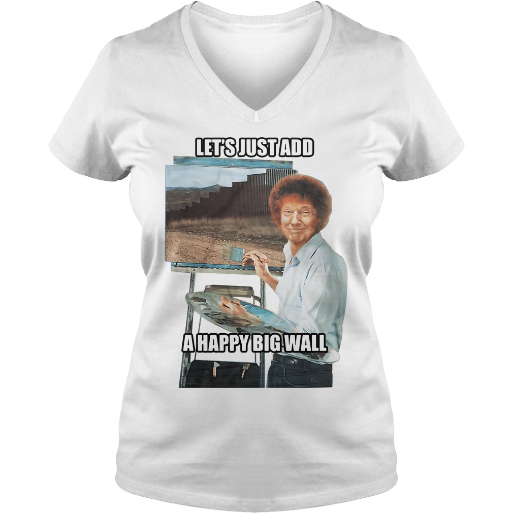 Let's just add a happy big wall V-neck t-shirt