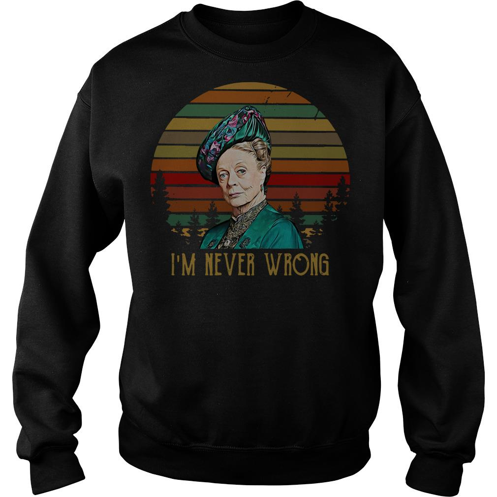 Maggie Smith I'm never wrong vintage Sweater
