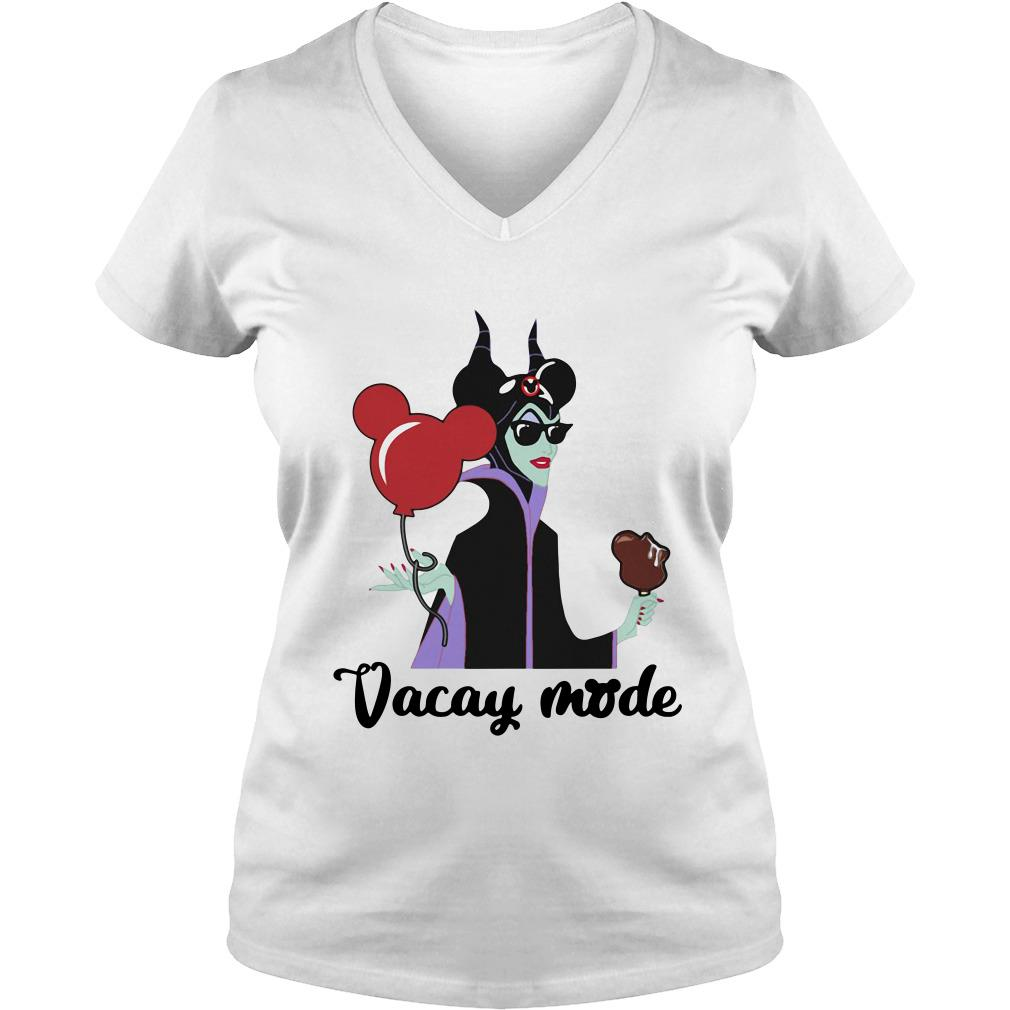Maleficent Vacay mode mickey mouse V-neck t-shirt