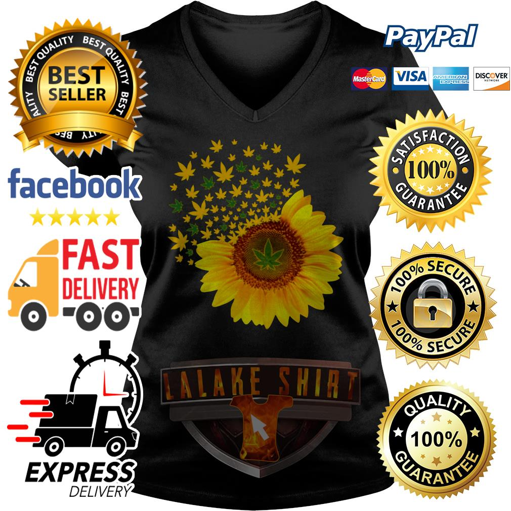 Official Sunflower weed V-neck t-shirt