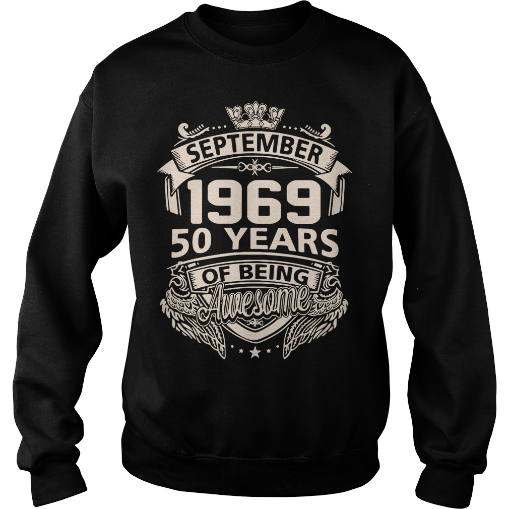 September 1969 50 years of being awesome Sweater