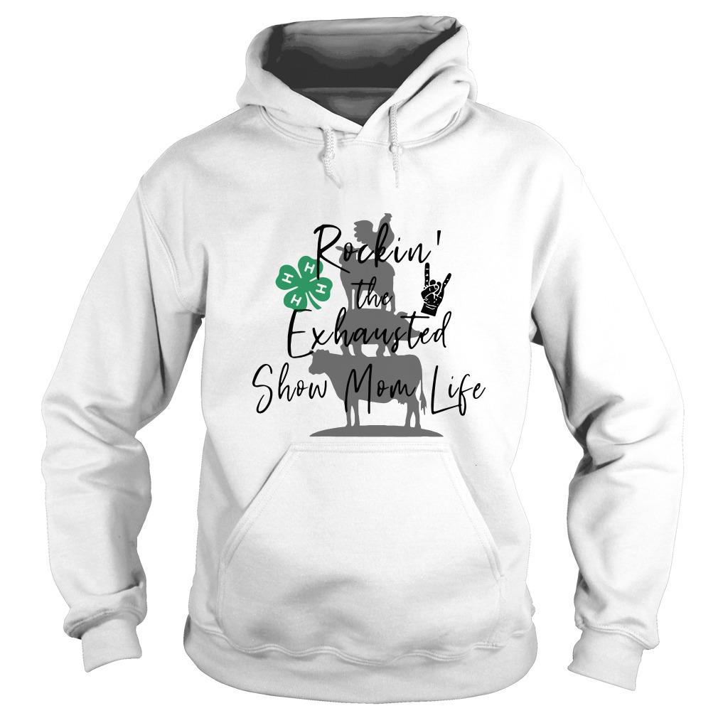 Shamrock Rockin' the exhausted show mom life BBQ Hoodie