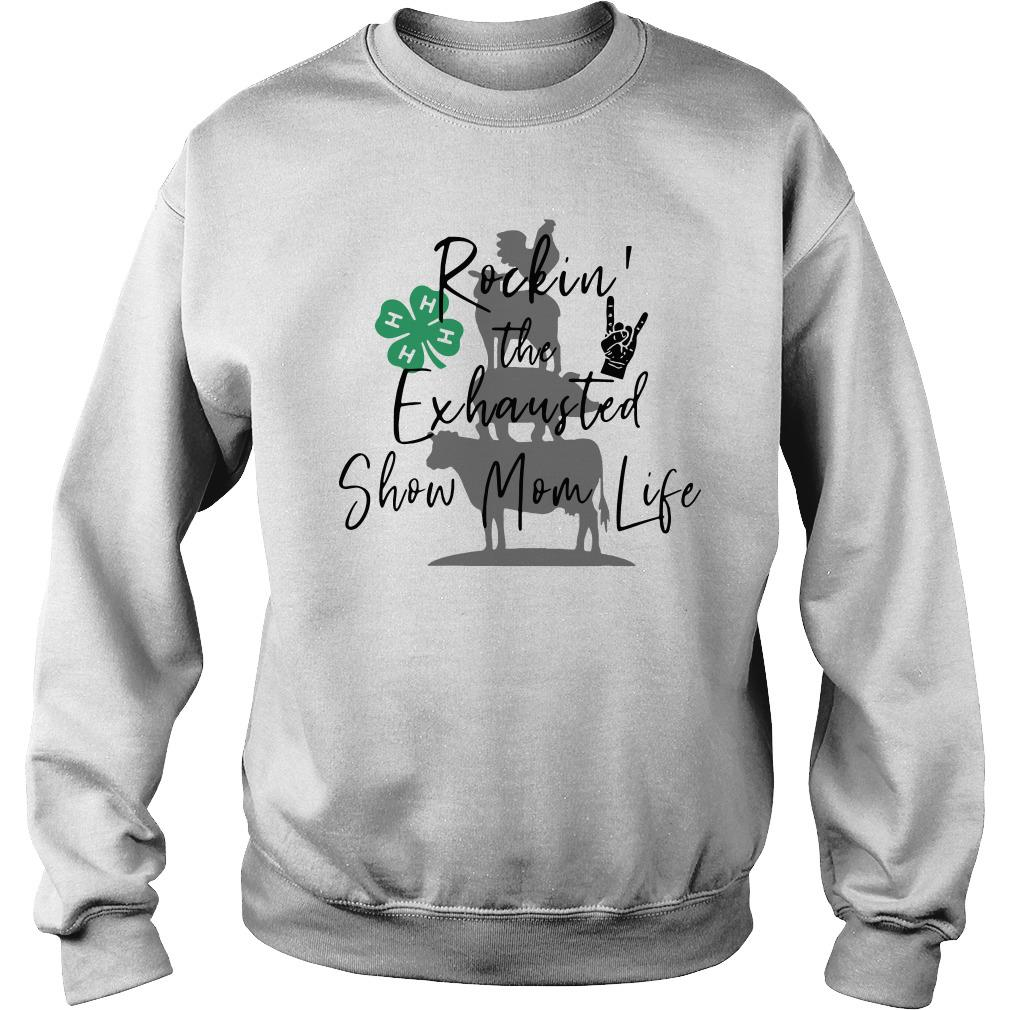 Shamrock Rockin' the exhausted show mom life BBQ Sweater