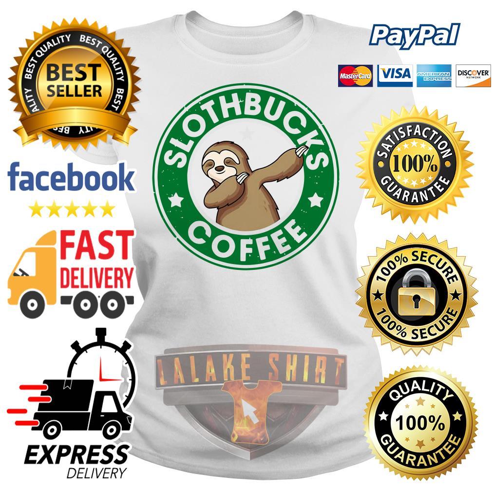 Starbucks Sloth bucks coffee Ladies tee