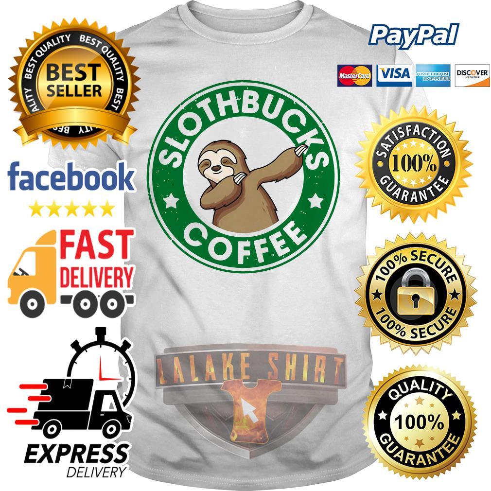 Starbucks Sloth bucks coffee shirt