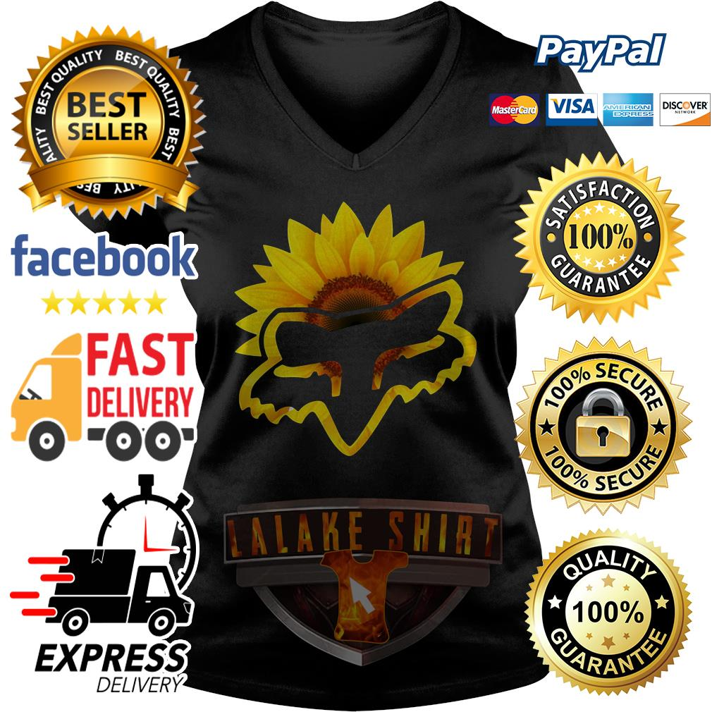 Sunflower Fox Racing V-neck t-shirt