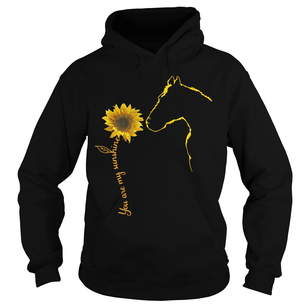 Sunflower and Horse You are my sunshine Hoodie