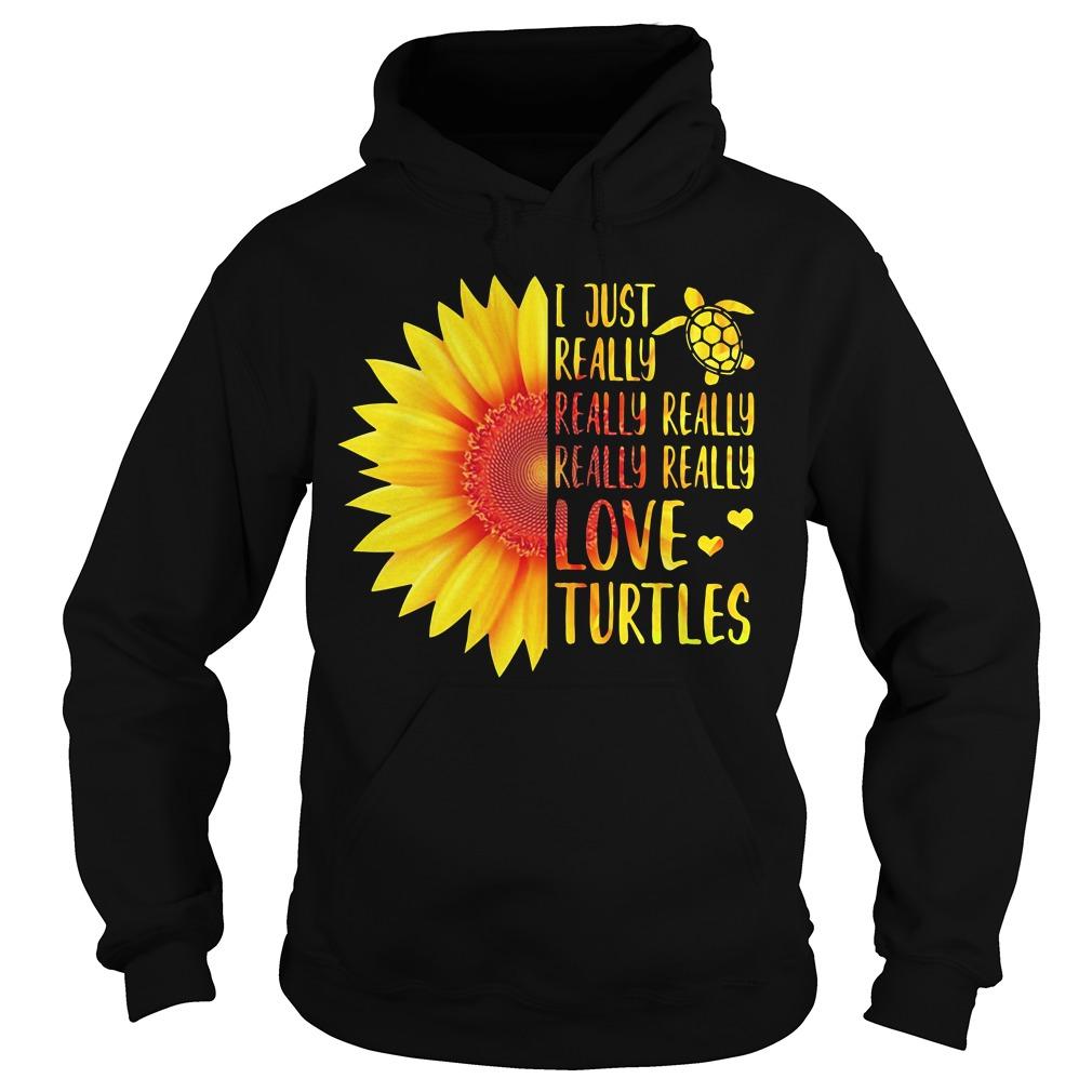 Sunflower I just really really really really really love Turtles Hoodie