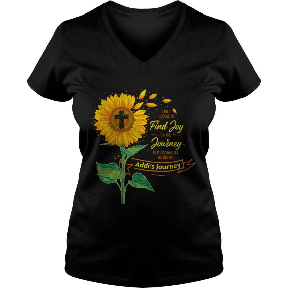 Sunflower I will choose to find Joy in the Journey that god has set before me V-neck t-shirt