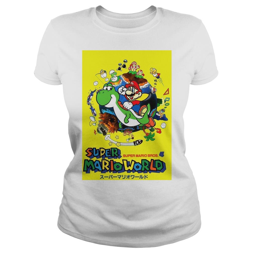 Super Mario world super Mario bros 4 Ladies tee