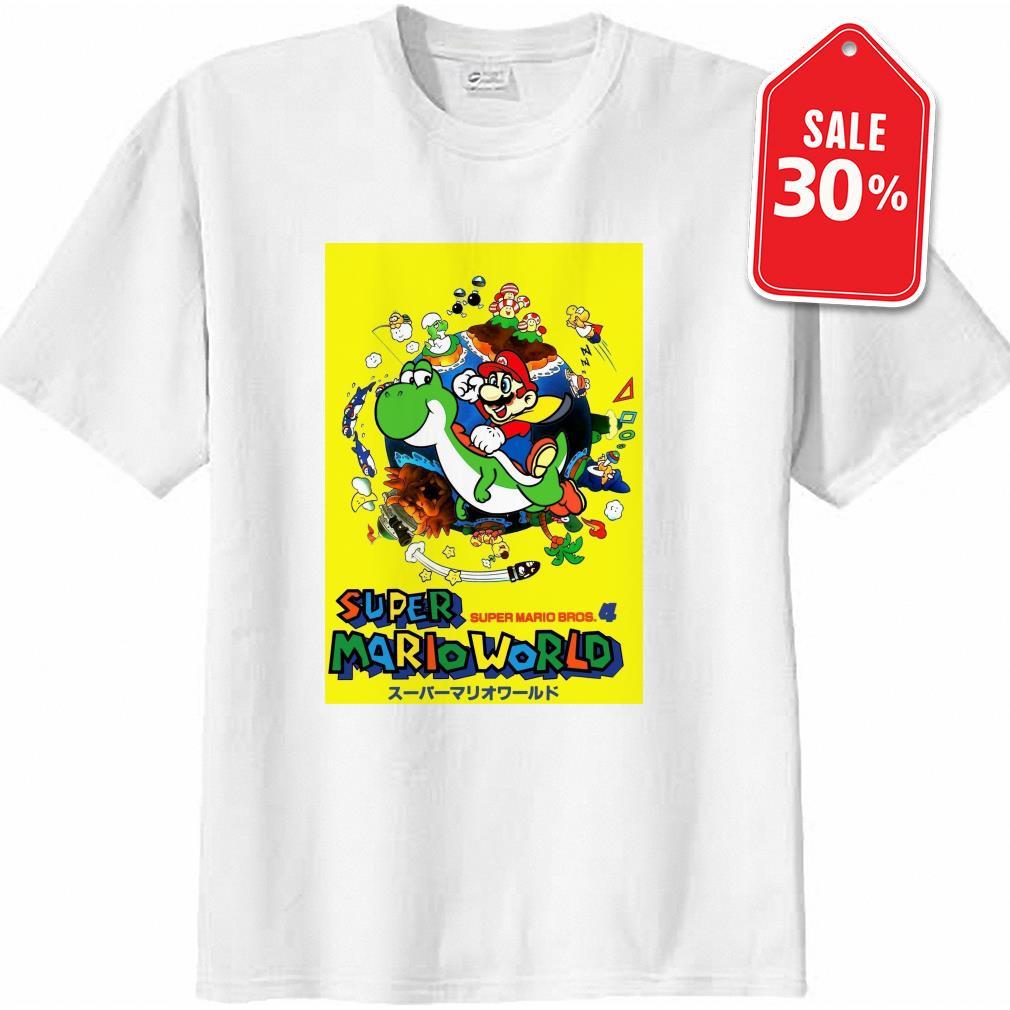 Super Mario world super Mario bros 4 shirt