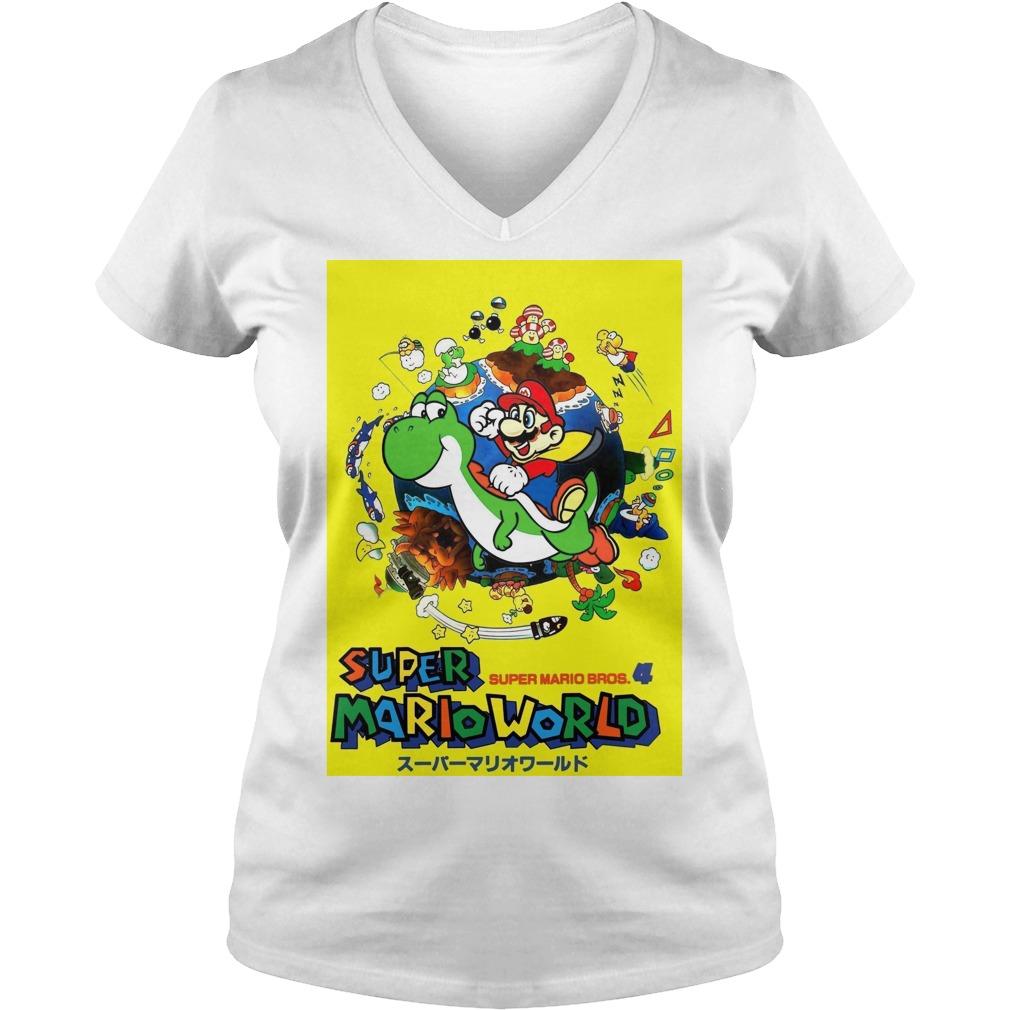 Super Mario world super Mario bros 4 V-neck t-shirt