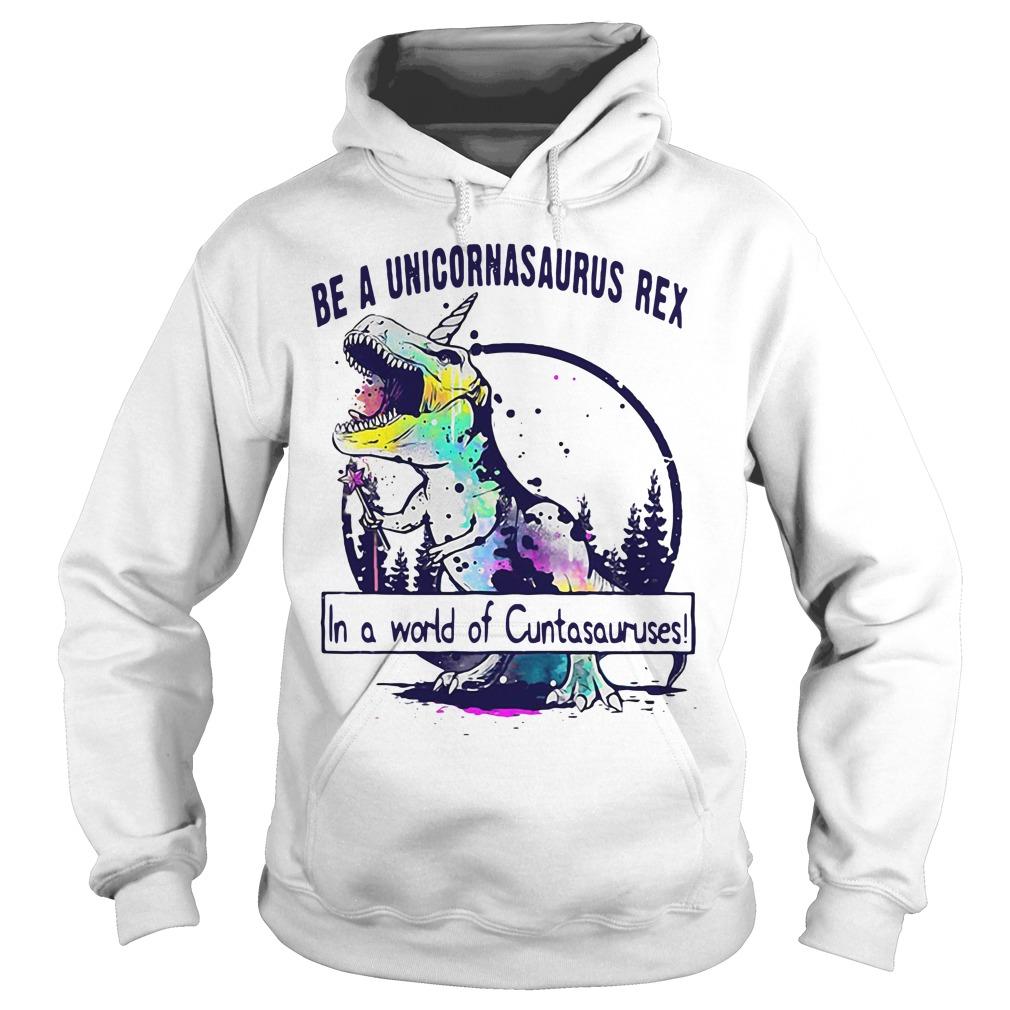 Be a unicornasaurus rex in a world of Cuntasuruses Hoodie